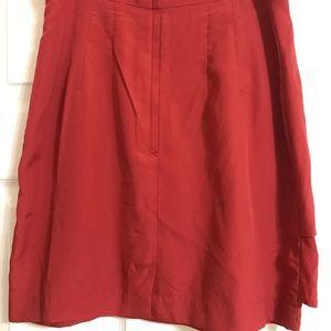 Layered Burnt Orange Skirt